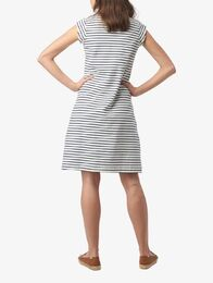 BOOMERANG Bella Pique Dress Stripe valkoinen