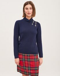 NEWHOUSE Cozy Knit navy