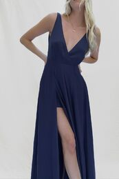 FRENCH CONNECTION Graci Drape Maxi Dress utility blue