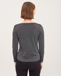 NEWHOUSE Lurex Boatneck