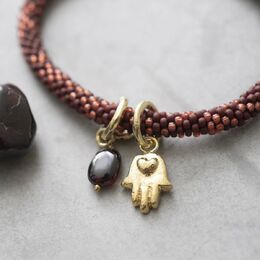 A BEAUTIFUL STORY Jacky Multi Garnet Gold Bracelet