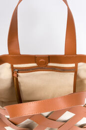 FRENCH CONNECTION Troy Leather and Canvas Bag