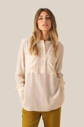 SECOND FEMALE Thori LS Blouse Creme De Peche