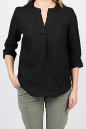 GROME Top/Blouse linen black