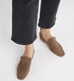 FLATTERED Vida Brown Suede loaferit