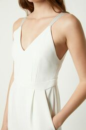 FRENCH CONNECTION Anana Whisper Strappy Jumpsuit summer white