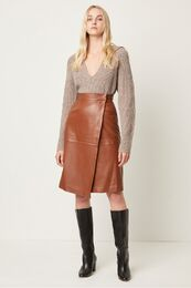 FRENCH CONNECTION Abri Leather Skirt