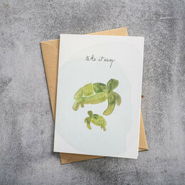 A BEAUTIFUL STORY Greeting Card Turtles