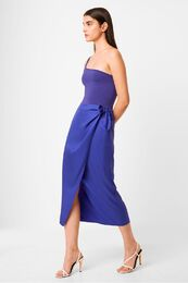 FRENCH CONNECTION Gabina Drape Sarong Skirt clemente blue