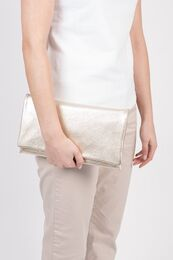ABRO Clutch Leather Rocher whitegold