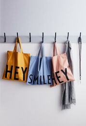 DESIGN LETTERS HEY Totebag mustard