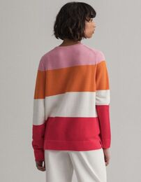 GANT Cotton Pique Stripe O-neck