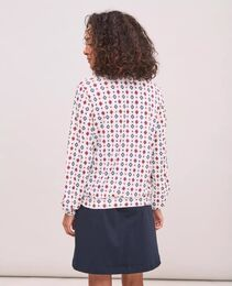 NEWHOUSE Bow Tie Print Top kuviollinen