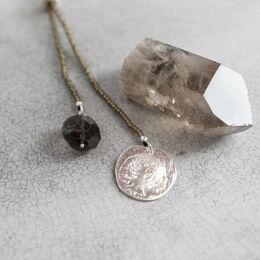 A BEAUTIFUL STORY Fairy Smokey Quartz Tree Necklace