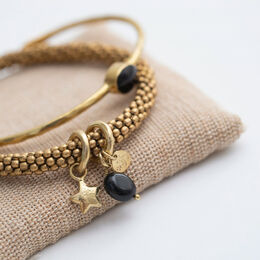 A BEAUTIFUL STORY Jacky Black Onyx Star Bracelet