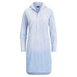 POLO RALPH LAUREN Striped Poplin Shirtdress