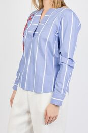 GANT Embroidery Stripe Popover pusero periwinkle blue