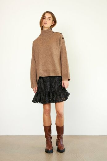 SECOND FEMALE Feist Knit T-Neck sepia tint