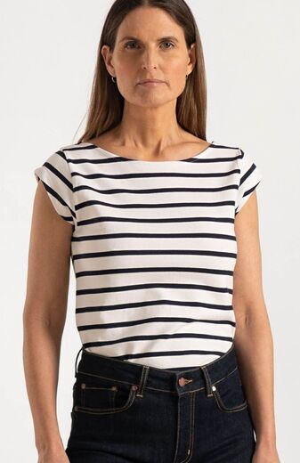 BOOMERANG Frejus Striped Pique Top