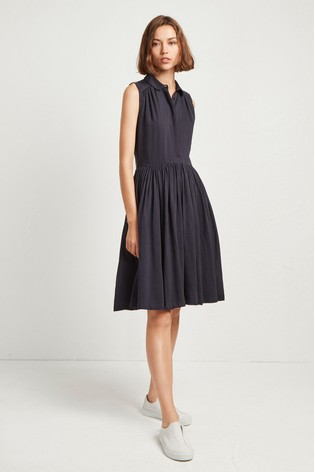 FRENCH CONNECTION Enya Drape Cotton Shirt Dress