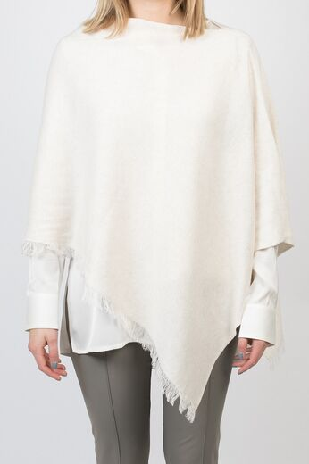 REPEAT poncho light beige