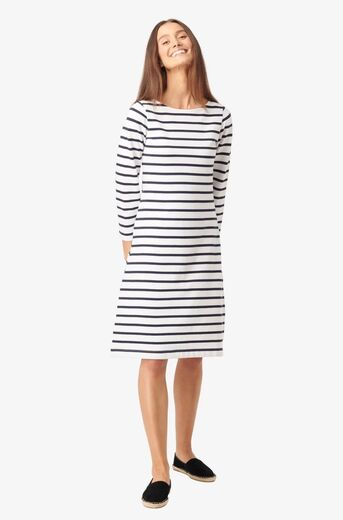 BOOMERANG Blenda Pique Stripe Dress