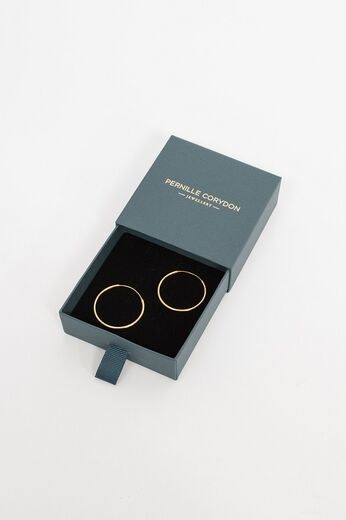 PERNILLE CORYDON Plain Hoop Earrings kulta