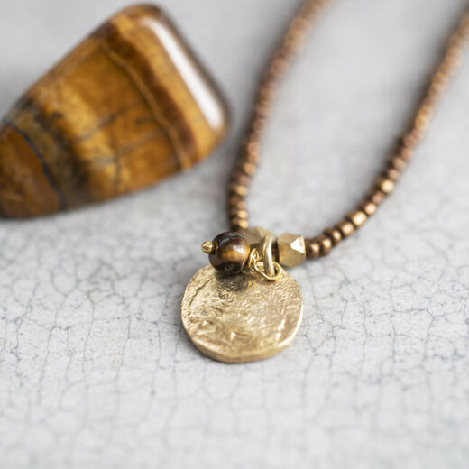 A BEAUTIFUL STORY Truly Tiger Eye Tree Necklace