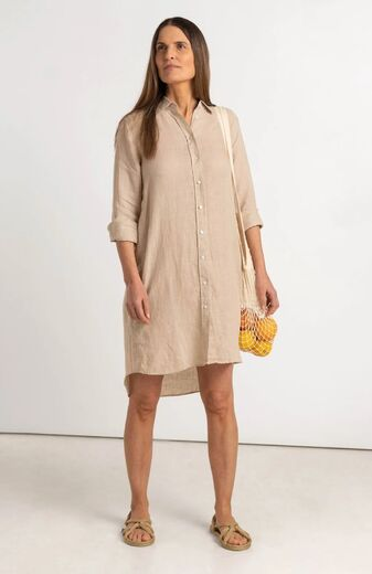 BOOMERANG Bea linen dress panama