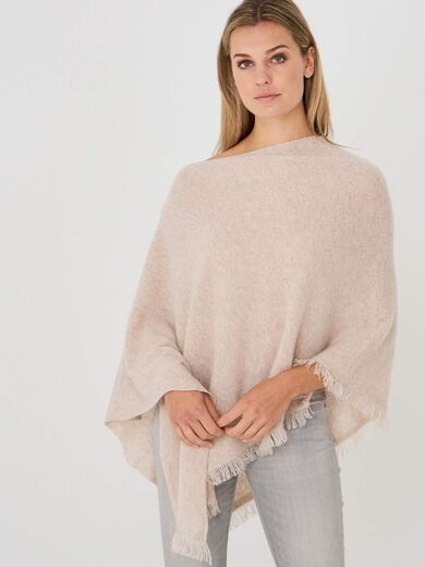 REPEAT kashmirvillaponcho beige