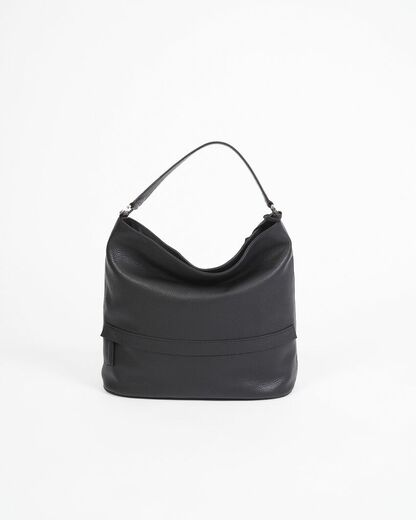 ABRO Hobo Leather Bag musta