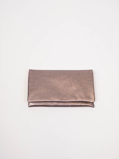 ABRO Mimosa Leather Clutch taupe