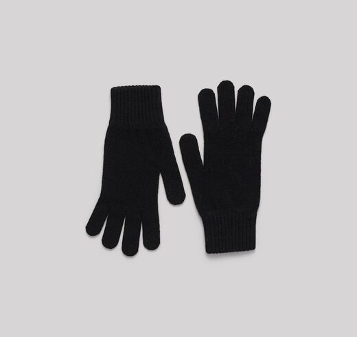 ORGANIC BASICS Recycled Cashmere Gloves musta