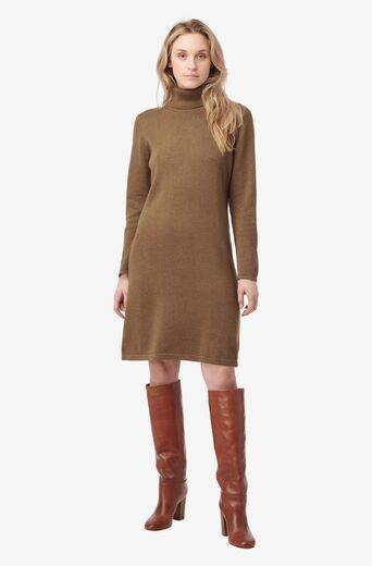 BOOMERANG Monica Polo Dress wood brown