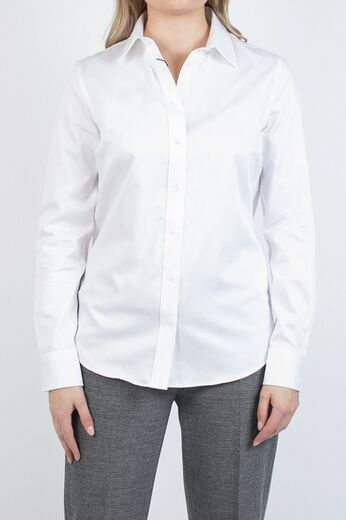 GANT Fine Sateen Shirt white