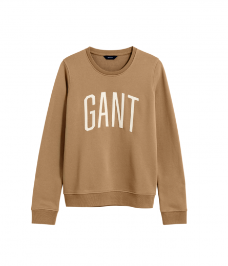 GANT Logo C-neck Sweater warm khaki