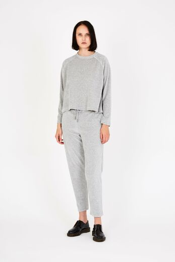 ARELA Atla Cropped Sweater basel grey