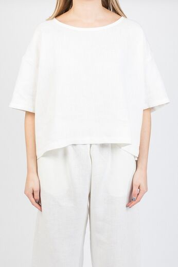 ARELA Nika Cropped Top Helsinki white