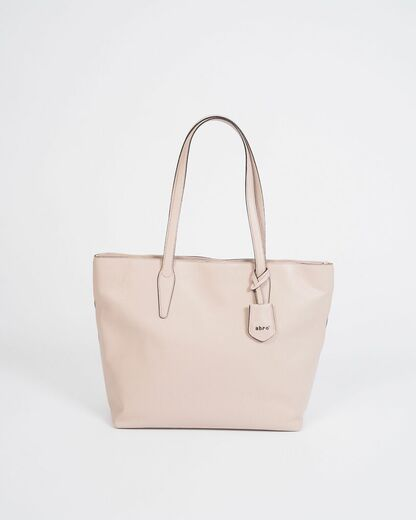 ABRO Shopper Leather Bag beige