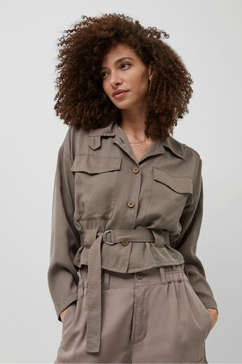 FRENCH CONNECTION Airietta Lyocell Cropped Jacket