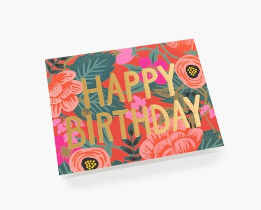 RIFLE PAPER Poppy Birthday kortti