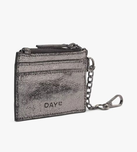 DAY ET Lumine Leather Cardholder gunmetal