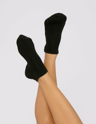 ORGANIC BASICS Organic Cotton Socks 2-pack musta