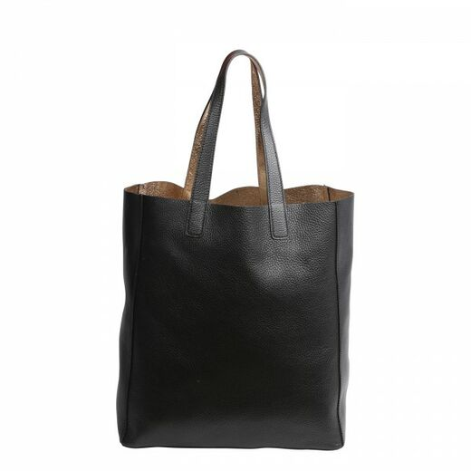 ABRO Doubleface Leather Shopper kulta