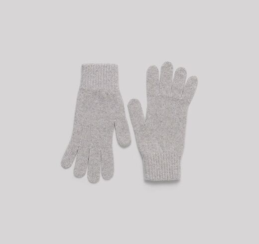 ORGANIC BASICS Recycled Cashmere Gloves harmaa