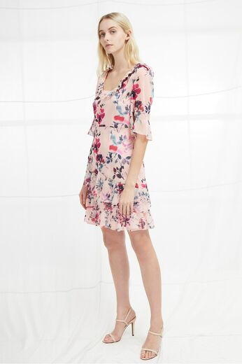 FRENCH CONNECTION Linosa Crinkle Tiered Dress