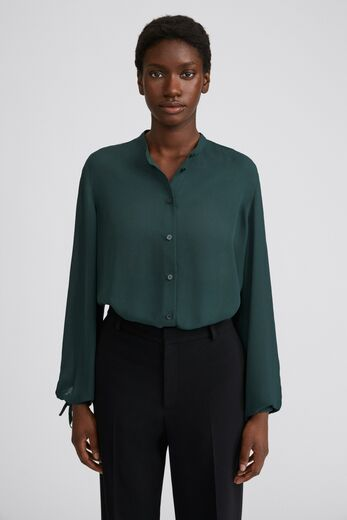 FILIPPA K Gia Blouse pacific green