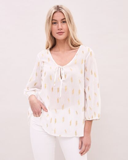 NEWHOUSE Feather Blouse