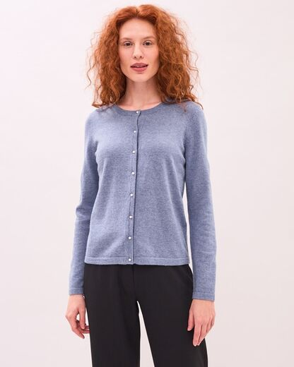 NEWHOUSE Pearl Button Cardigan