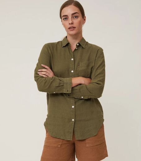 LEXINGTON Isa Linen Shirt vihreä